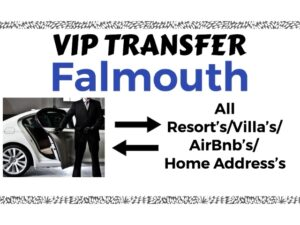 Round Trip VIP Transfer From Sangster International Airport Montego Bay to All Resorts/Villas/AirBnb/Home in Falmouth, Trelawny, Jamaica