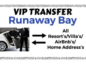 Round Trip VIP Transfer From Sangster International Airport Montego Bay to All Resort's/Villa's/AirBnb's/Home's in Runaway Bay, St. Ann, Jamaica