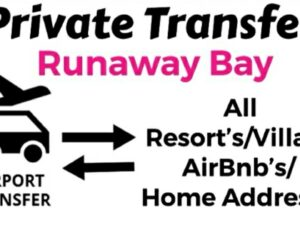 Round Trip Private Transfer From Sangster International Airport Montego Bay to All Resorts/Villas/AirBnb/Home in Runaway Bay, St. Ann, Jamaica