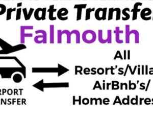 Round Trip Private Transfer From Sangster International Airport Montego Bay to All Resorts/Villas/AirBnb/Home in Falmouth, Trelawny, Jamaica